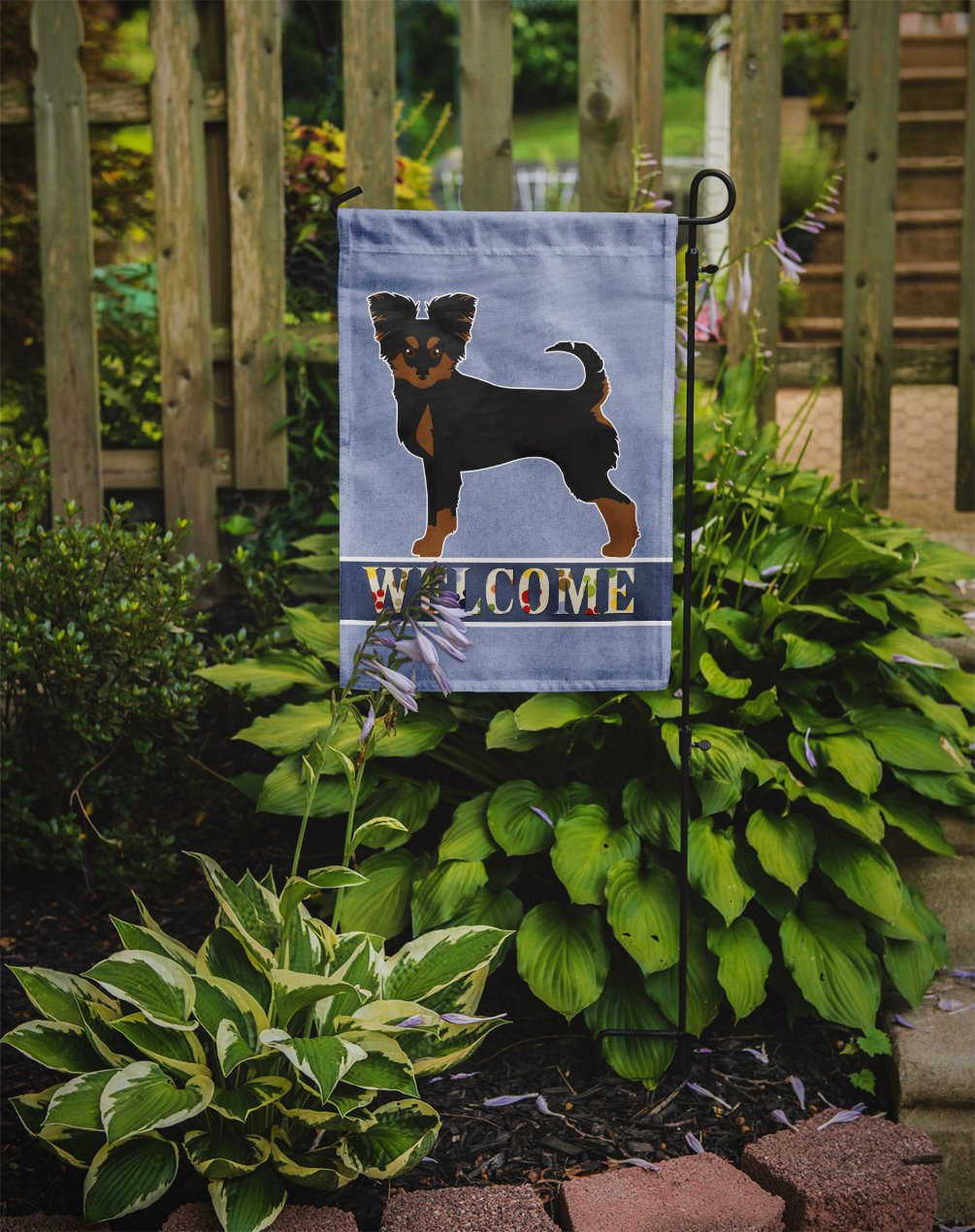 Black and Tan Chion Welcome Flag Garden Size CK3719GF by Caroline's Treasures