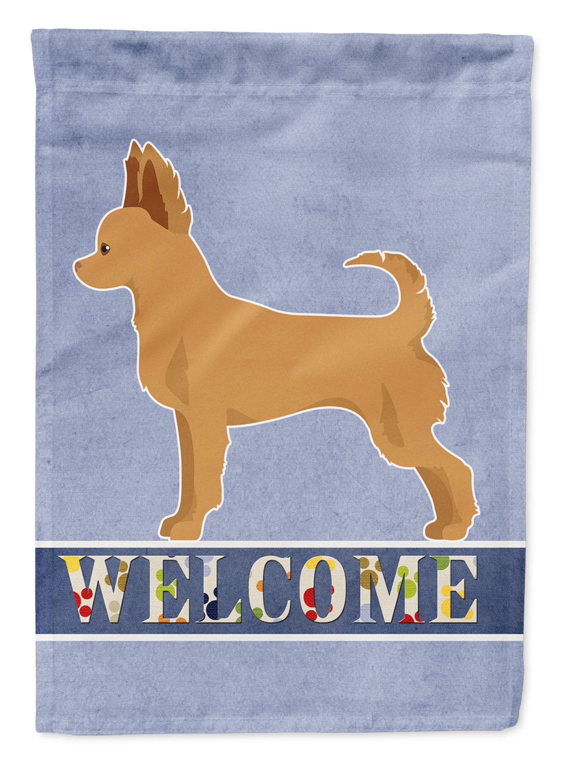 Tan Chion Welcome Flag Canvas House Size CK3720CHF by Caroline's Treasures