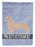 Tan Chiweenie Welcome Flag Canvas House Size CK3721CHF by Caroline's Treasures