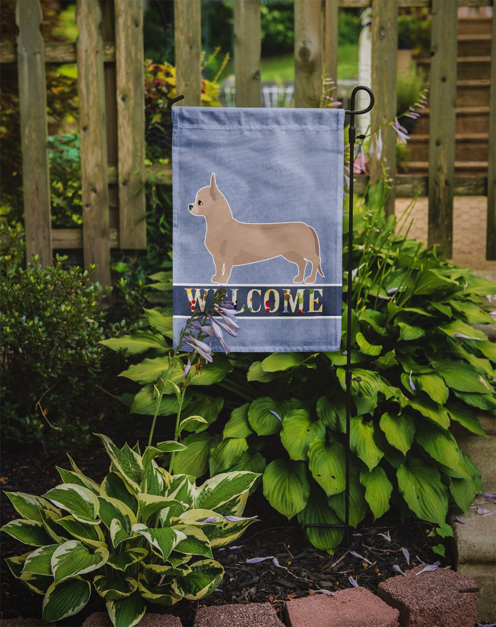Tan Chiweenie Welcome Flag Garden Size CK3721GF by Caroline's Treasures