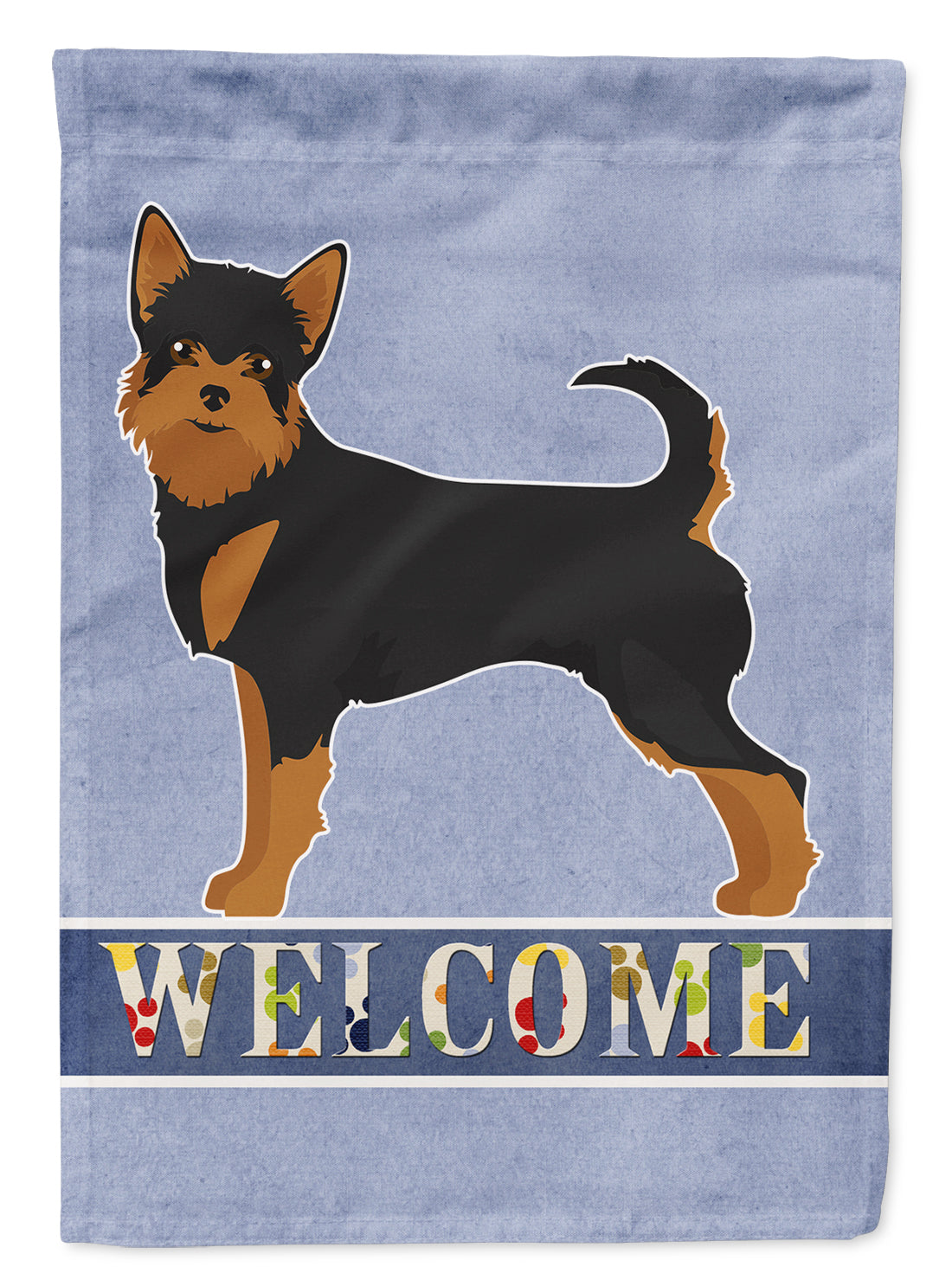 Black and Tan Chorkie Welcome Flag Canvas House Size CK3723CHF by Caroline's Treasures
