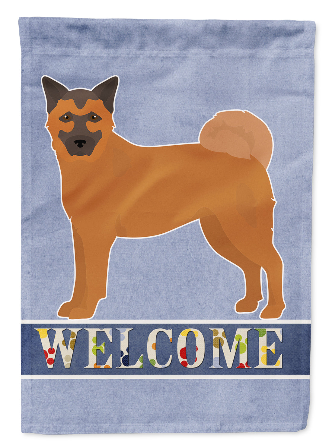 Buy this Chow Shepherd Welcome Flag Canvas House Size CK3725CHF