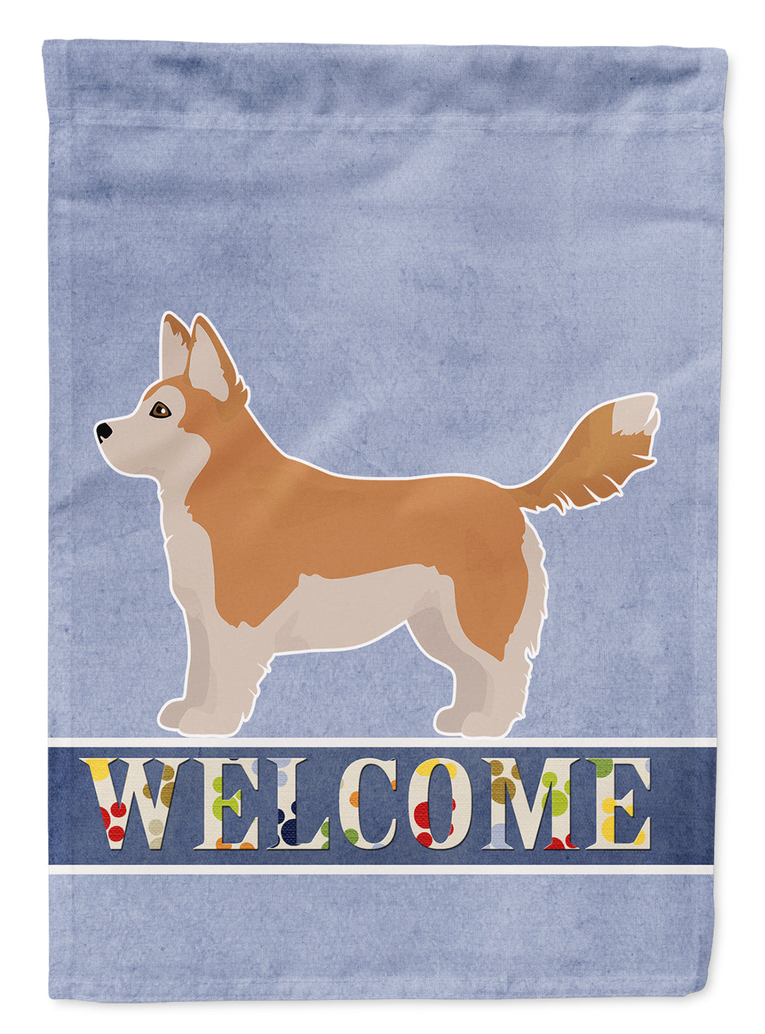 Corgi Husky Mix Welcome Flag Canvas House Size CK3730CHF by Caroline's Treasures