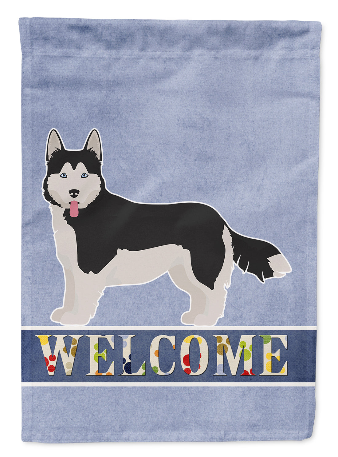 Corgi Husky Mix #2 Welcome Flag Canvas House Size CK3731CHF by Caroline's Treasures