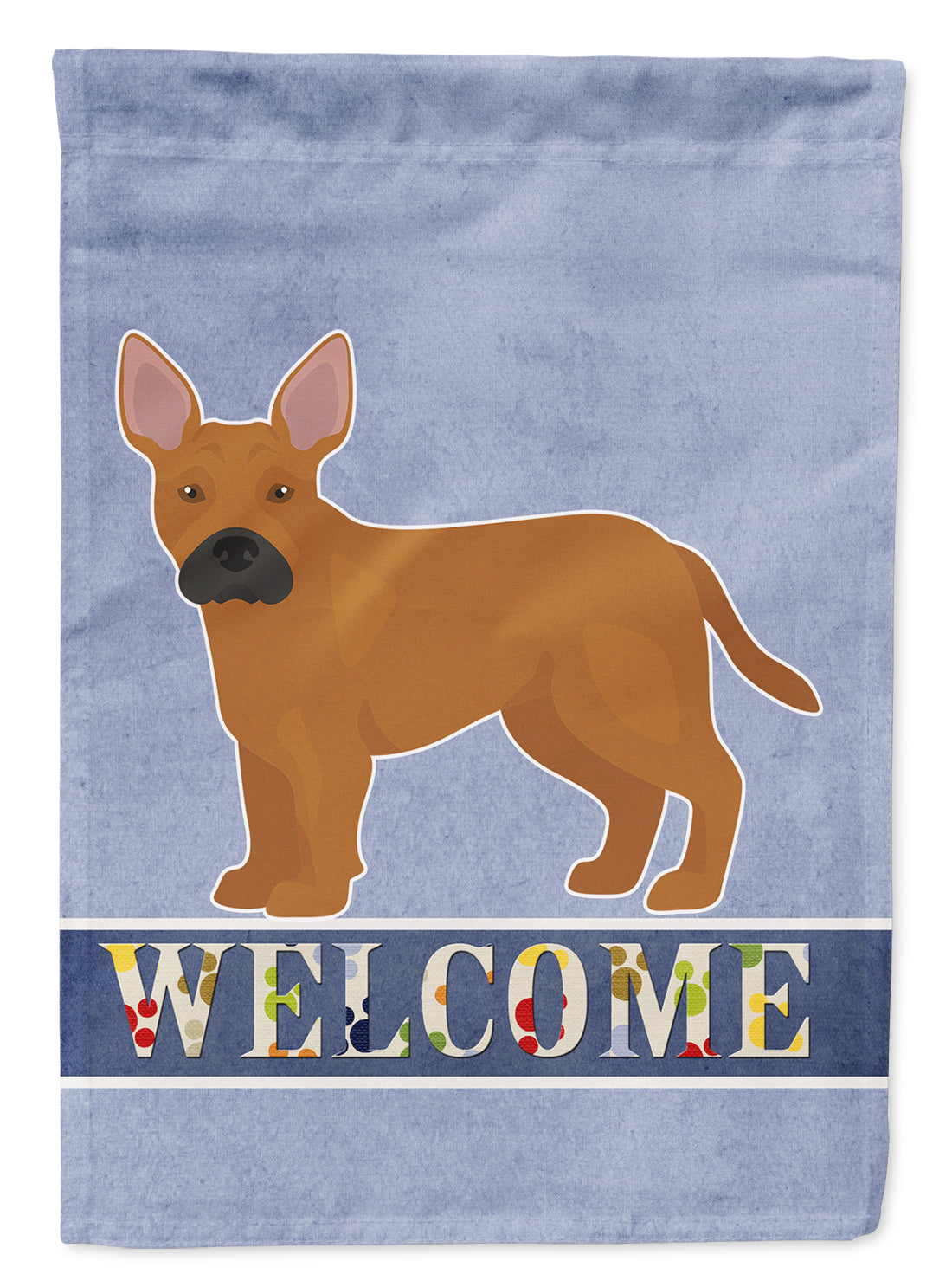 Tan French Bulldog Pit Bull Mix Welcome Flag Canvas House Size CK3734CHF by Caroline's Treasures