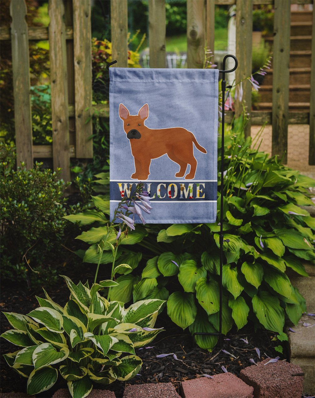 Tan French Bulldog Pit Bull Mix Welcome Flag Garden Size CK3734GF by Caroline's Treasures