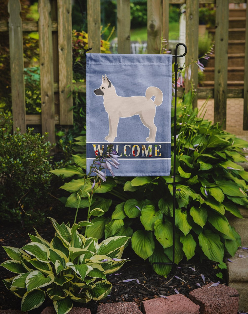 Gerberian Shepsky Welcome Flag Garden Size CK3736GF by Caroline's Treasures