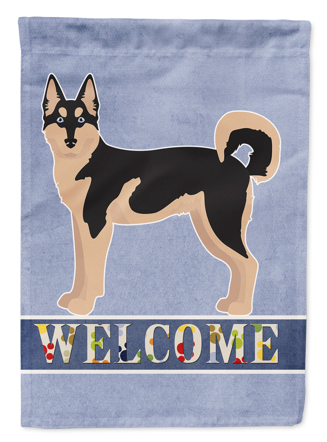 Gerberian Shepsky #2 Welcome Flag Canvas House Size CK3737CHF by Caroline's Treasures
