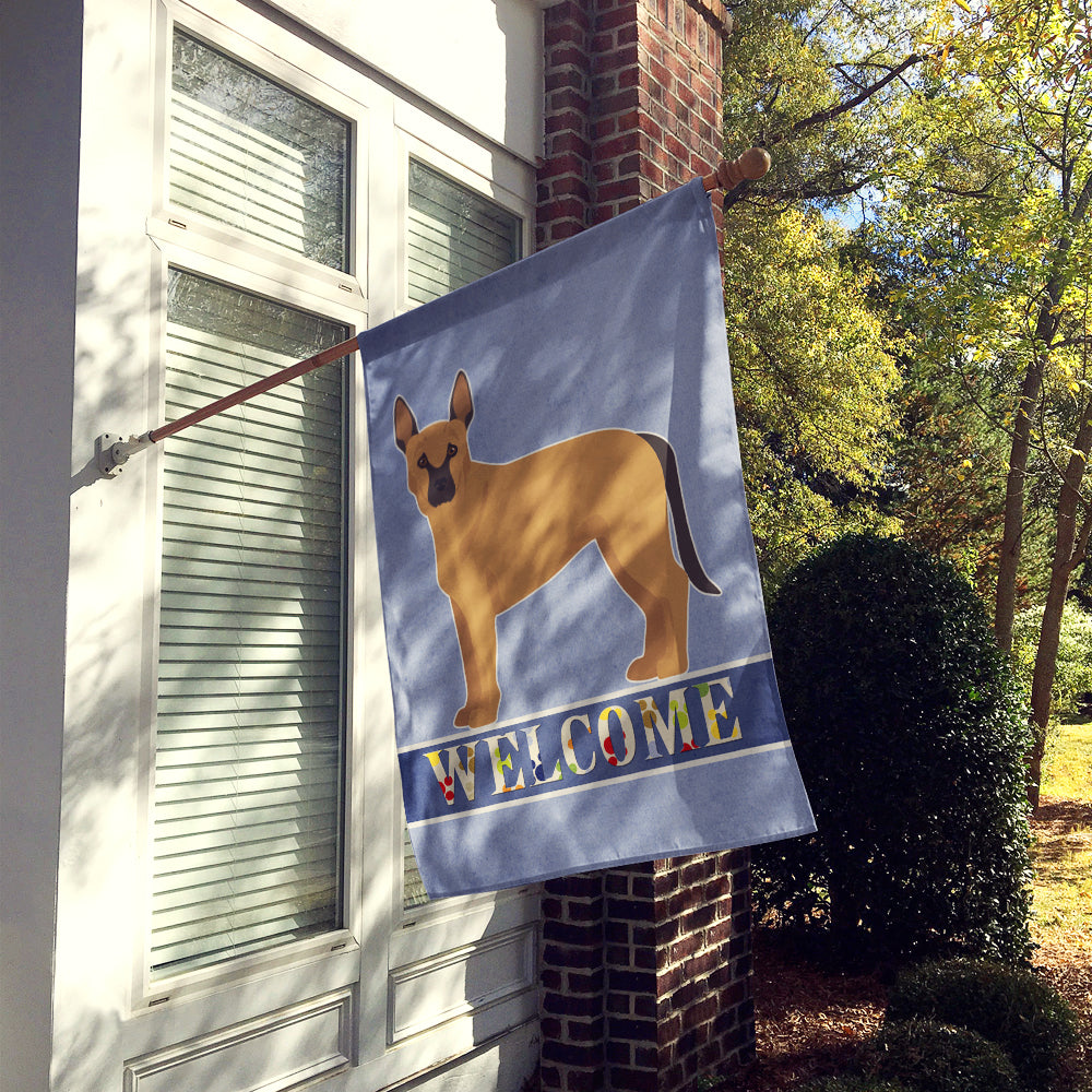 Tan German Shepherd Mastiff Mix Welcome Flag Canvas House Size CK3738CHF by Caroline's Treasures