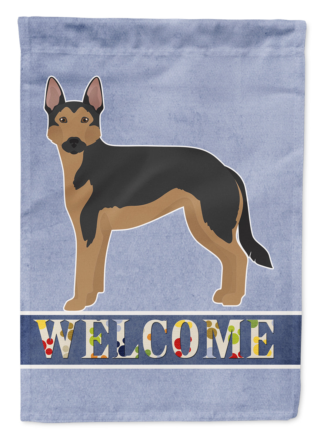 German Sheprador #2 Welcome Flag Canvas House Size CK3741CHF by Caroline's Treasures