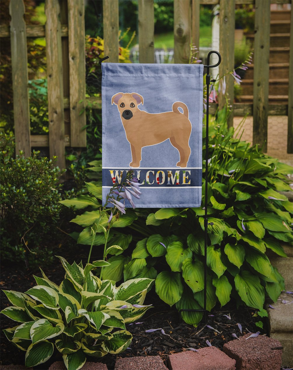 Tan Jug Welcome Flag Garden Size CK3751GF by Caroline's Treasures