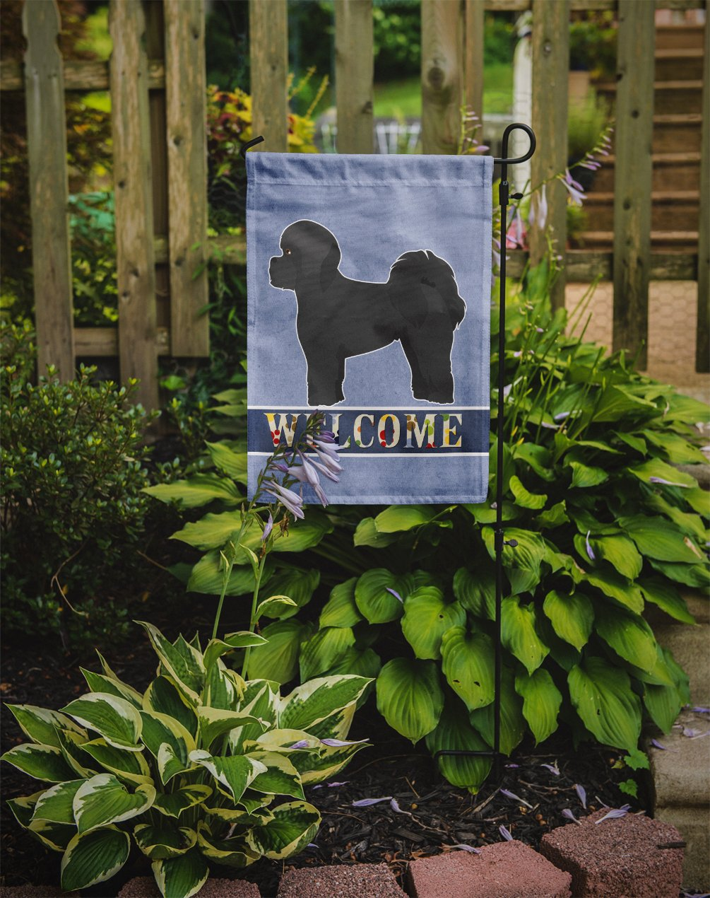 Black Mal-Shi Welcome Flag Garden Size CK3758GF by Caroline's Treasures