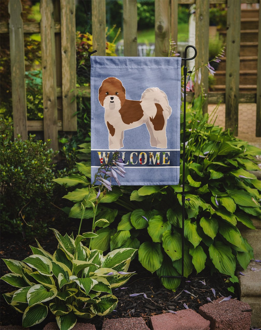 Mal-Shi Welcome Flag Garden Size CK3759GF by Caroline's Treasures