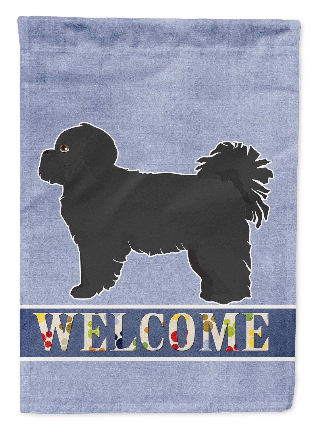 Black Pekeapoo Welcome Flag Garden Size CK3764GF by Caroline's Treasures