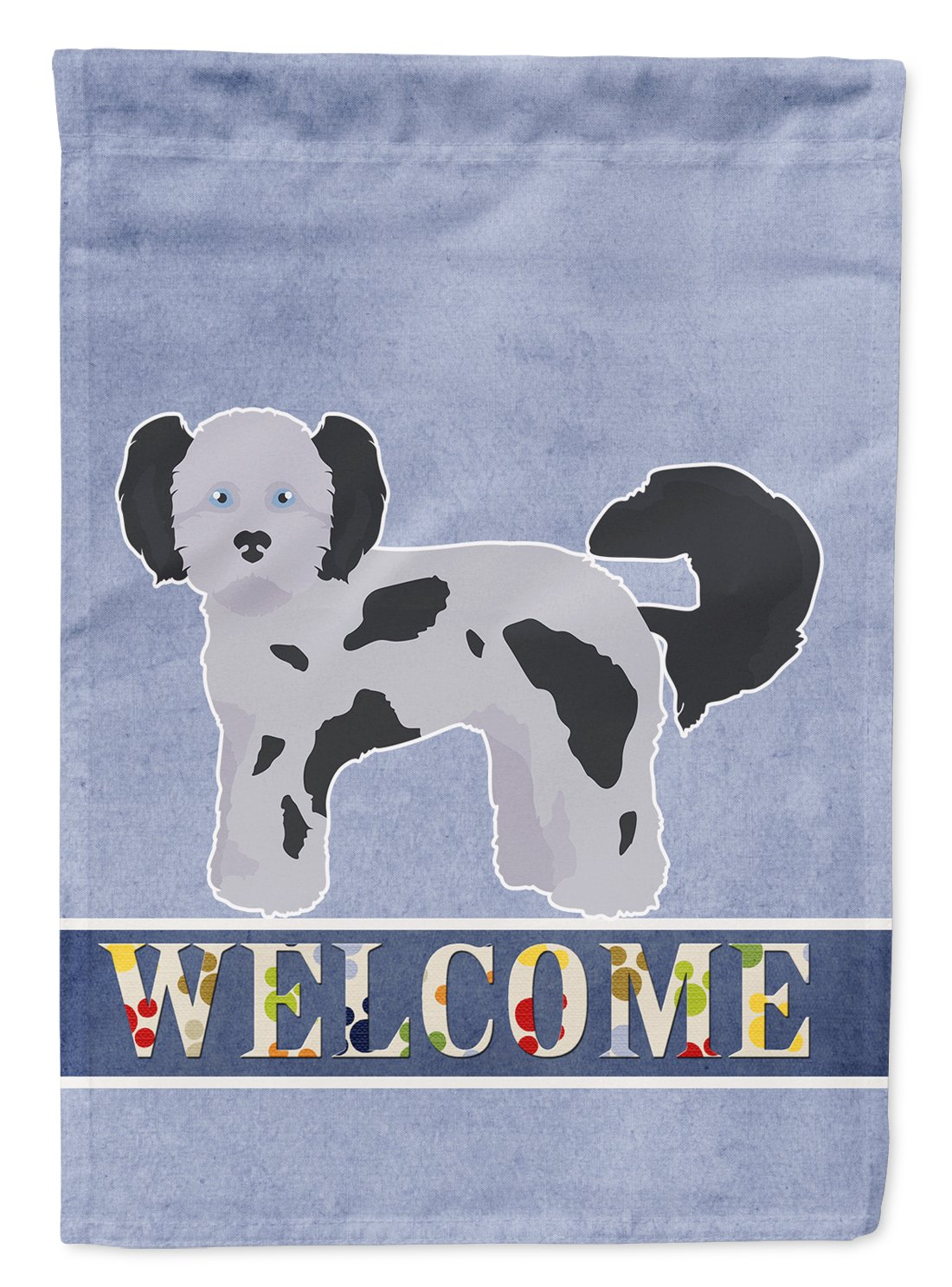 Buy this Shih Poo Welcome Flag Garden Size CK3778GF