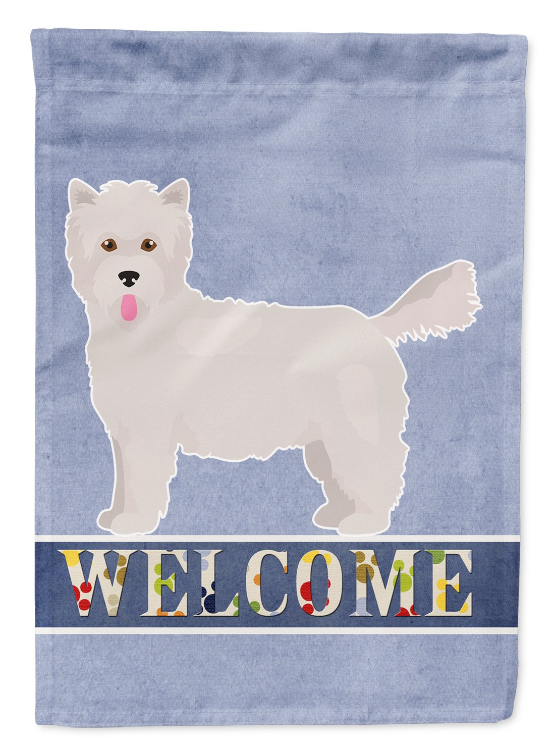 Buy this Westiepoo #2 Welcome Flag Garden Size CK3785GF