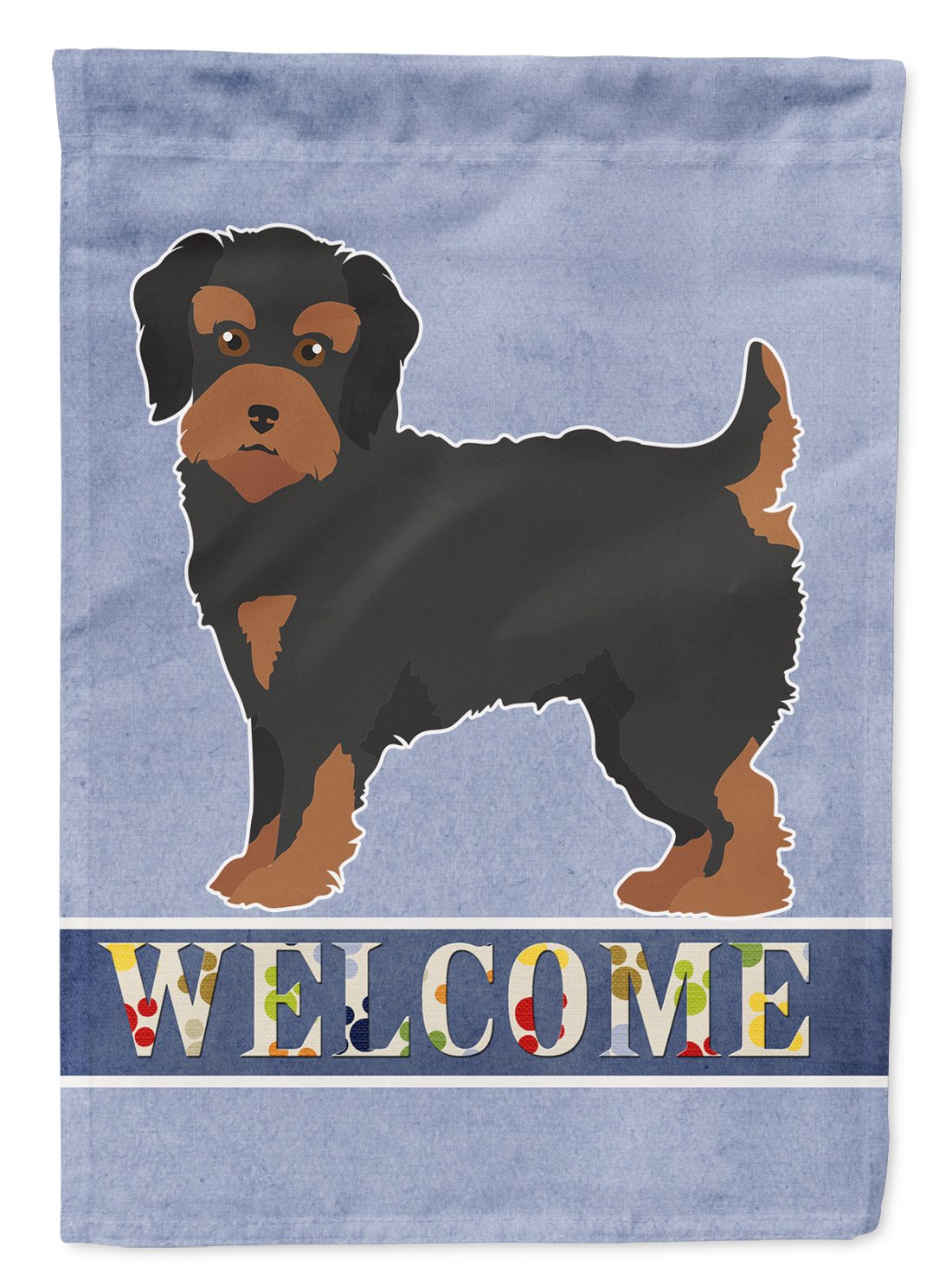Buy this Yorkiepoo #1 Welcome Flag Garden Size CK3788GF