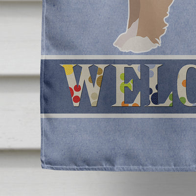 Yorkiepoo #2 Welcome Flag Canvas House Size CK3789CHF