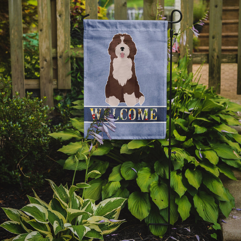 Buy this Bernedoodle #2 Welcome Flag Garden Size CK3792GF