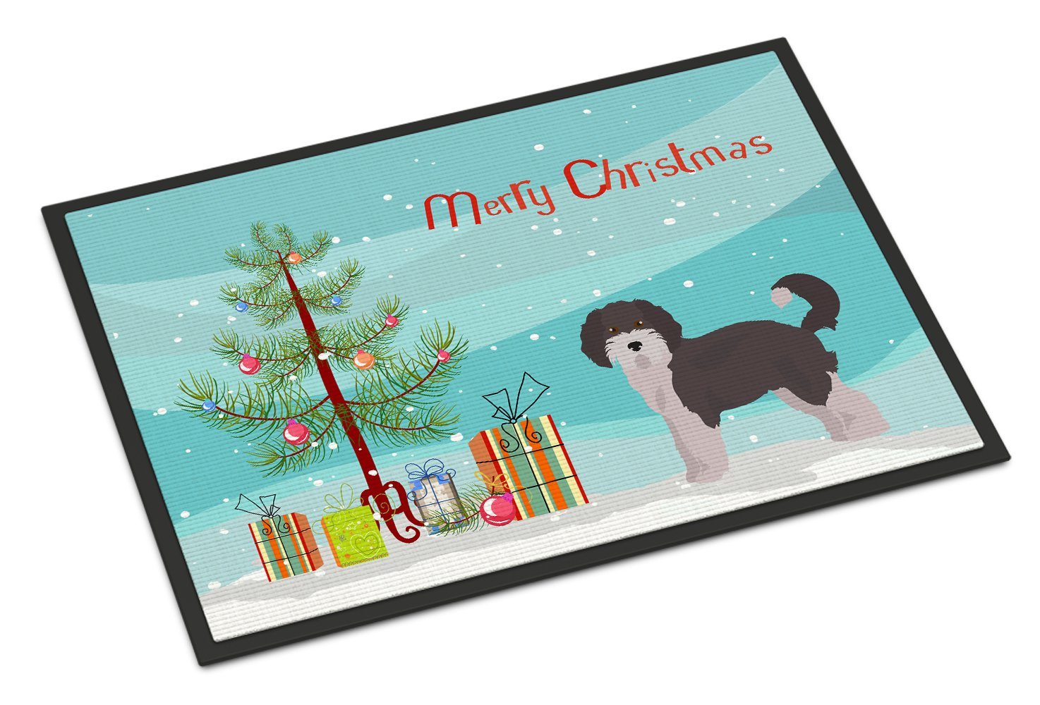 Aussiedoodle #1 Christmas Tree Indoor or Outdoor Mat 24x36 CK3800JMAT by Caroline's Treasures