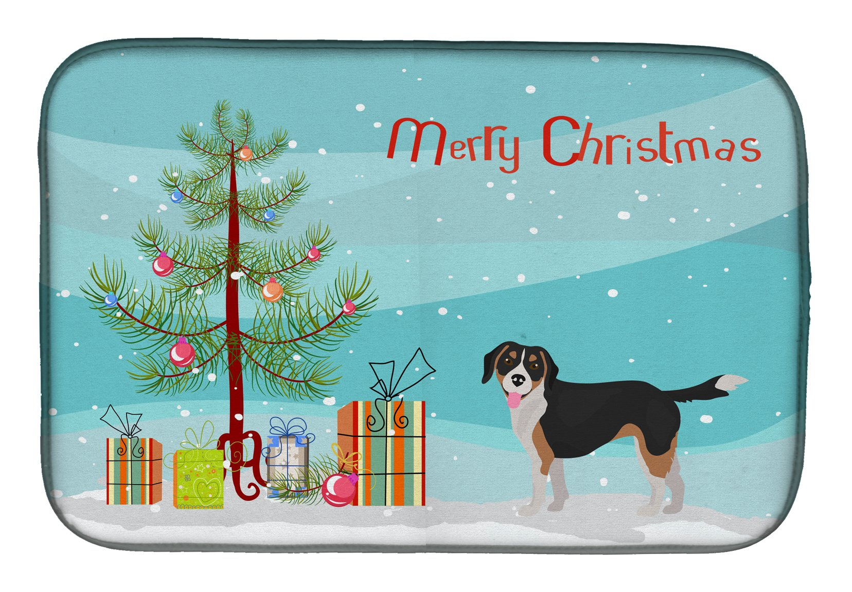 Beaglier #2 Christmas Tree Dish Drying Mat CK3803DDM by Caroline's Treasures