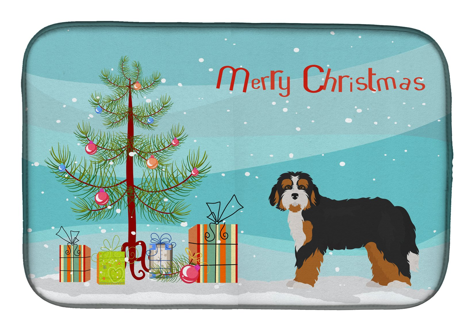 Buy this Bernedoodle Christmas Tree Dish Drying Mat CK3804DDM
