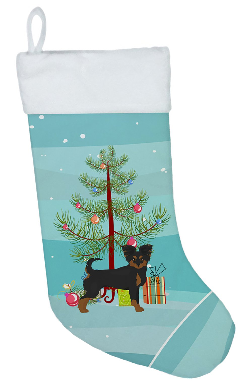 Black and Tan Chion Christmas Tree Christmas Stocking CK3813CS by Caroline's Treasures