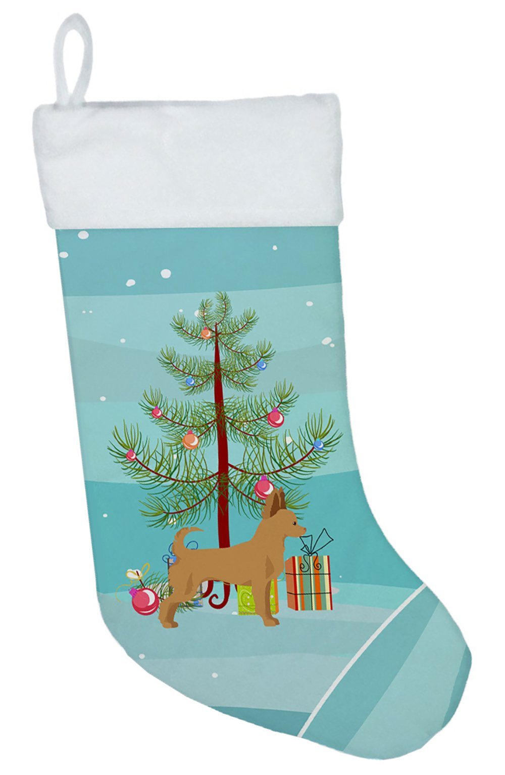 Tan Chion Christmas Tree Christmas Stocking CK3814CS by Caroline's Treasures