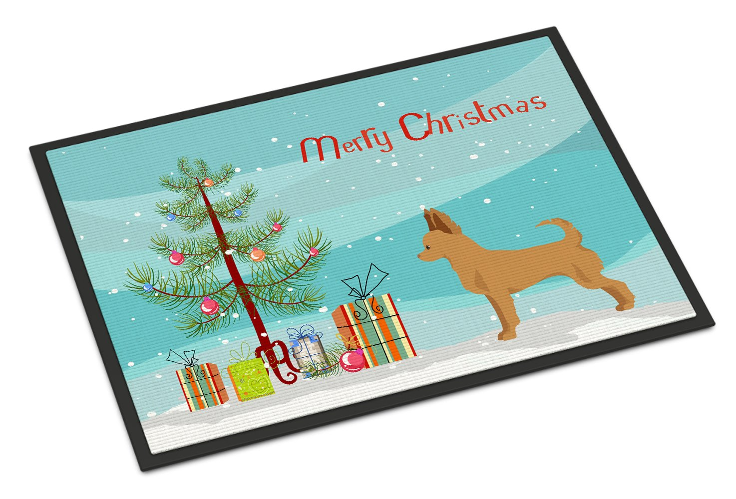 Tan Chion Christmas Tree Indoor or Outdoor Mat 24x36 CK3814JMAT by Caroline's Treasures