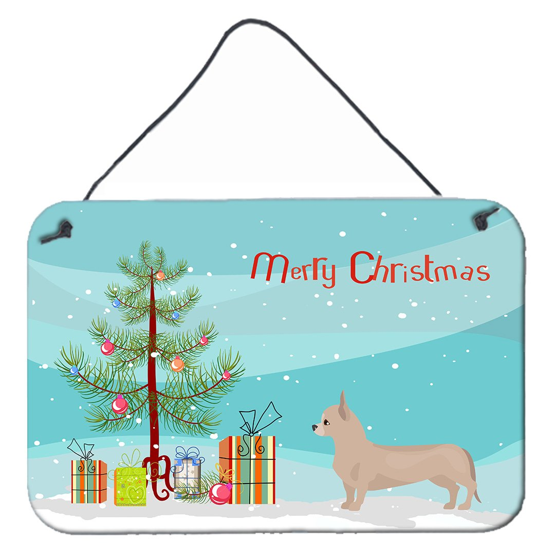 Buy this Tan Chiweenie Christmas Tree Wall or Door Hanging Prints CK3815DS812