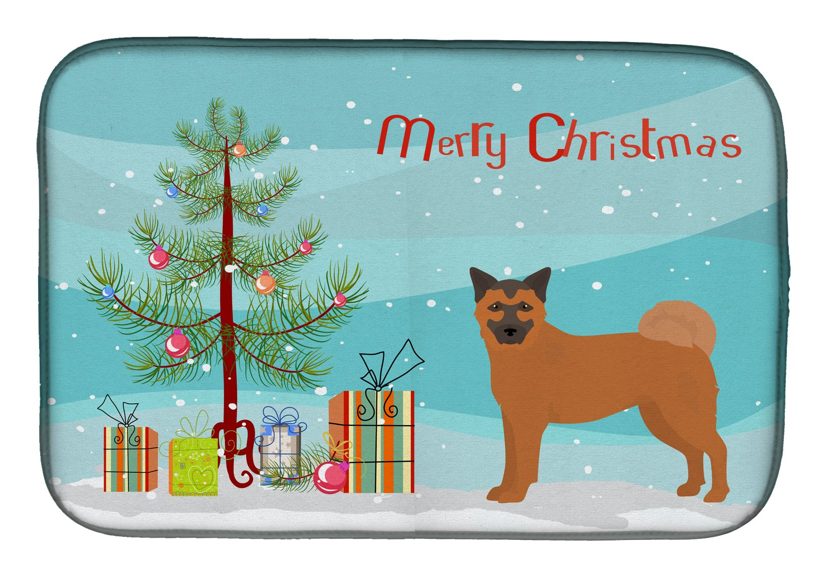 Buy this Chow Shepherd Christmas Tree Dish Drying Mat CK3819DDM