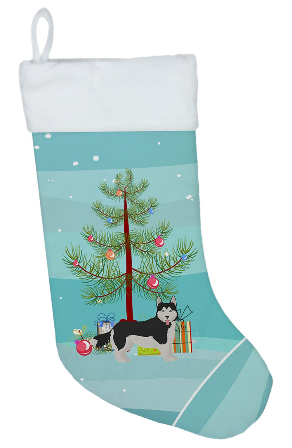 Corgi Husky Mix #2 Christmas Tree Christmas Stocking CK3825CS by Caroline's Treasures