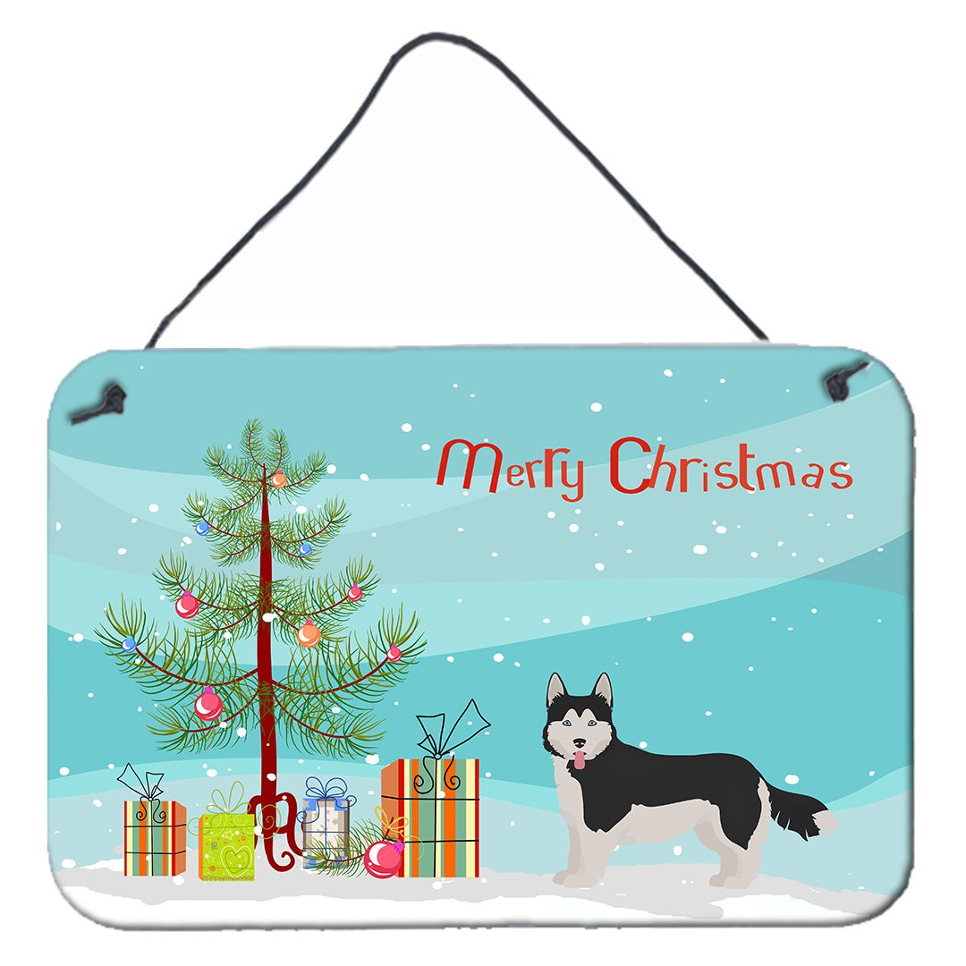 Corgi Husky Mix #2 Christmas Tree Wall or Door Hanging Prints CK3825DS812 by Caroline's Treasures