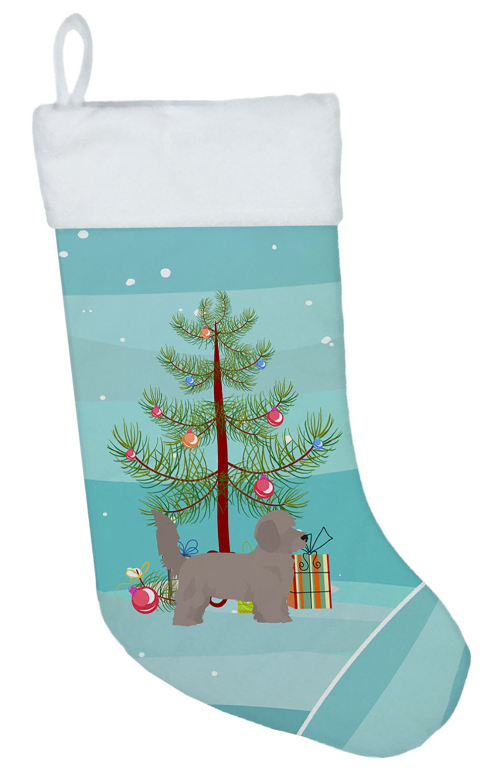 Doxiepoo Christmas Tree Christmas Stocking CK3826CS by Caroline's Treasures