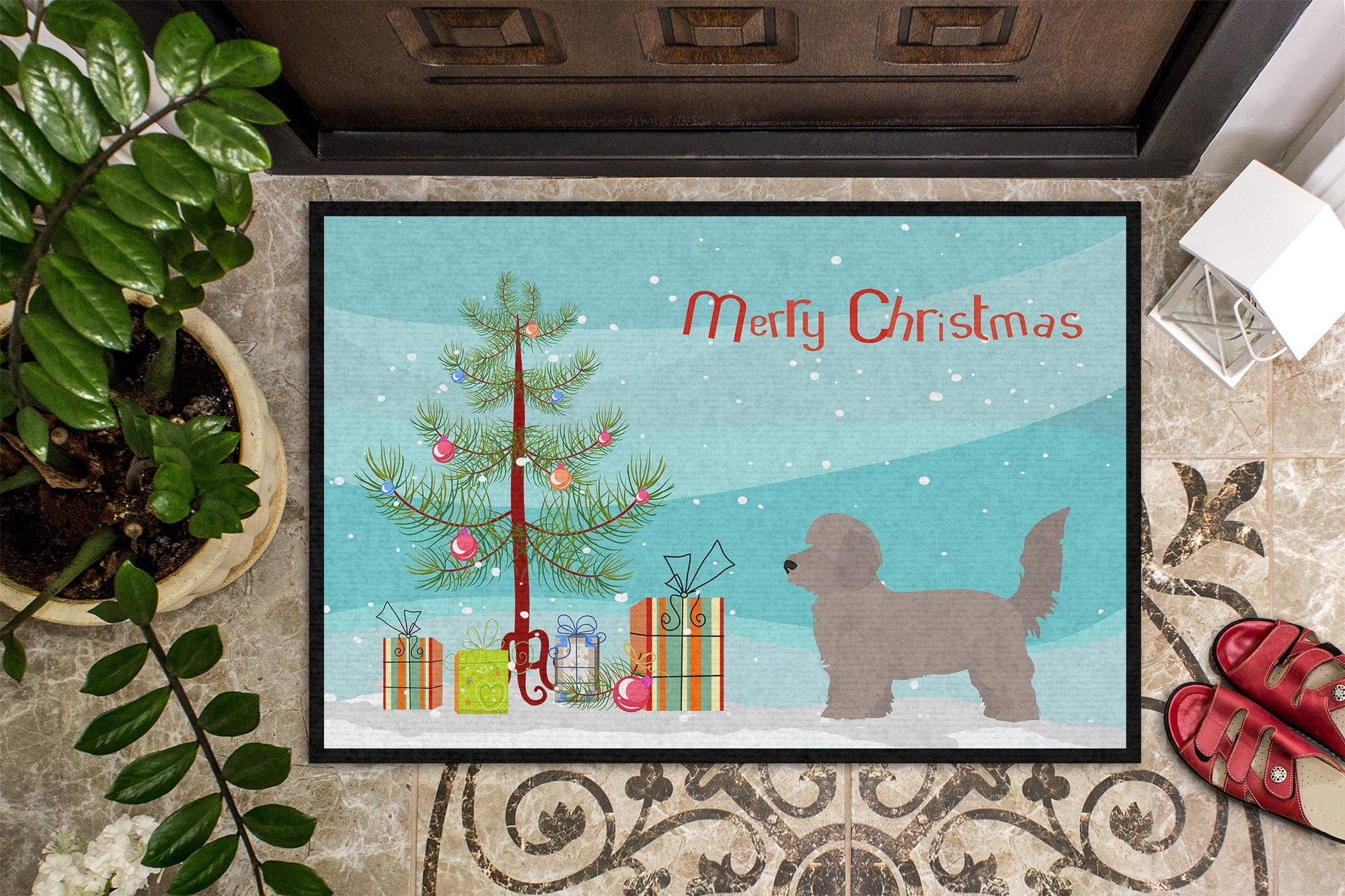 Doxiepoo Christmas Tree Indoor or Outdoor Mat 24x36 CK3826JMAT by Caroline's Treasures