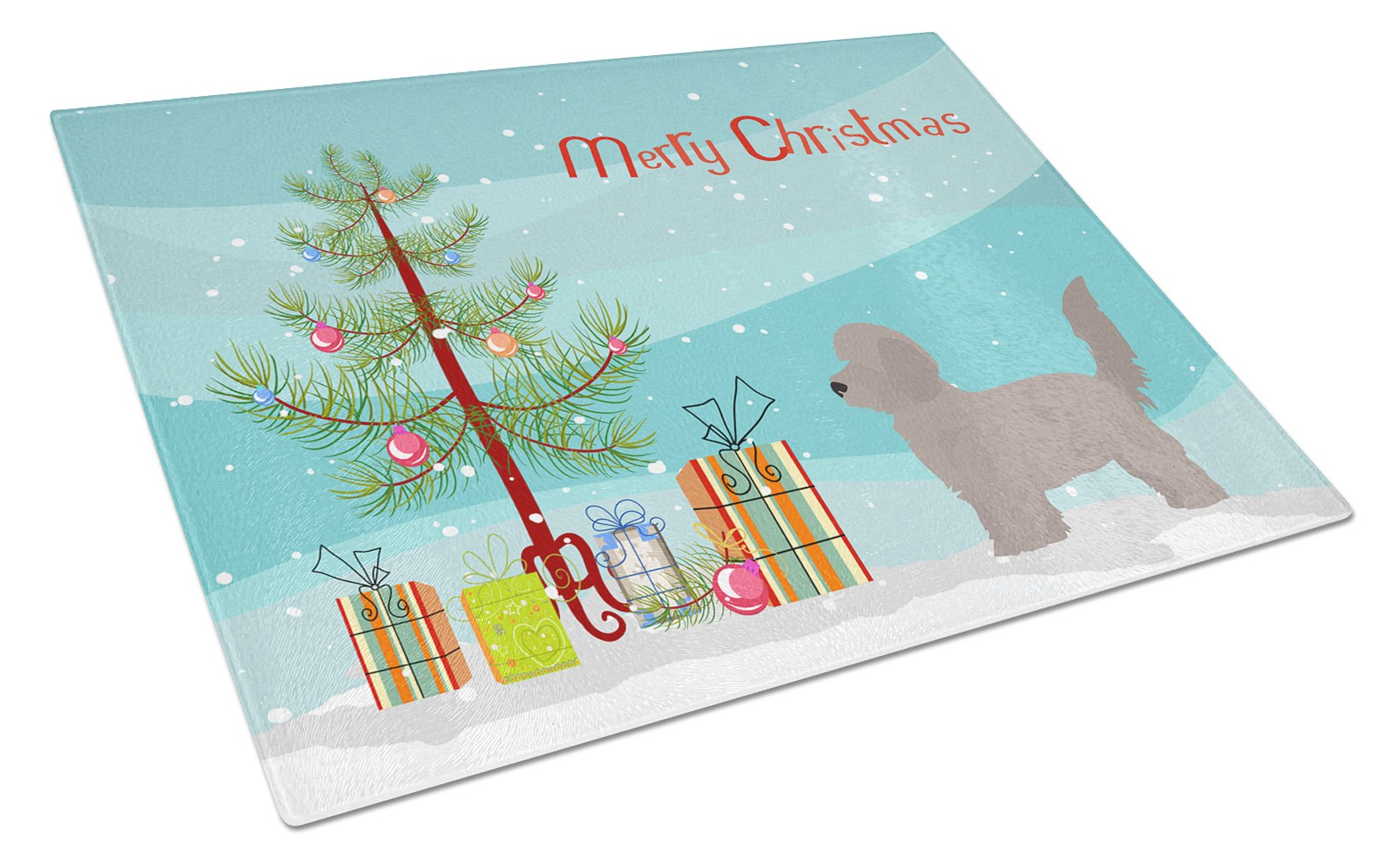 Buy this Doxiepoo Christmas Tree Glass Cutting Board Large CK3826LCB