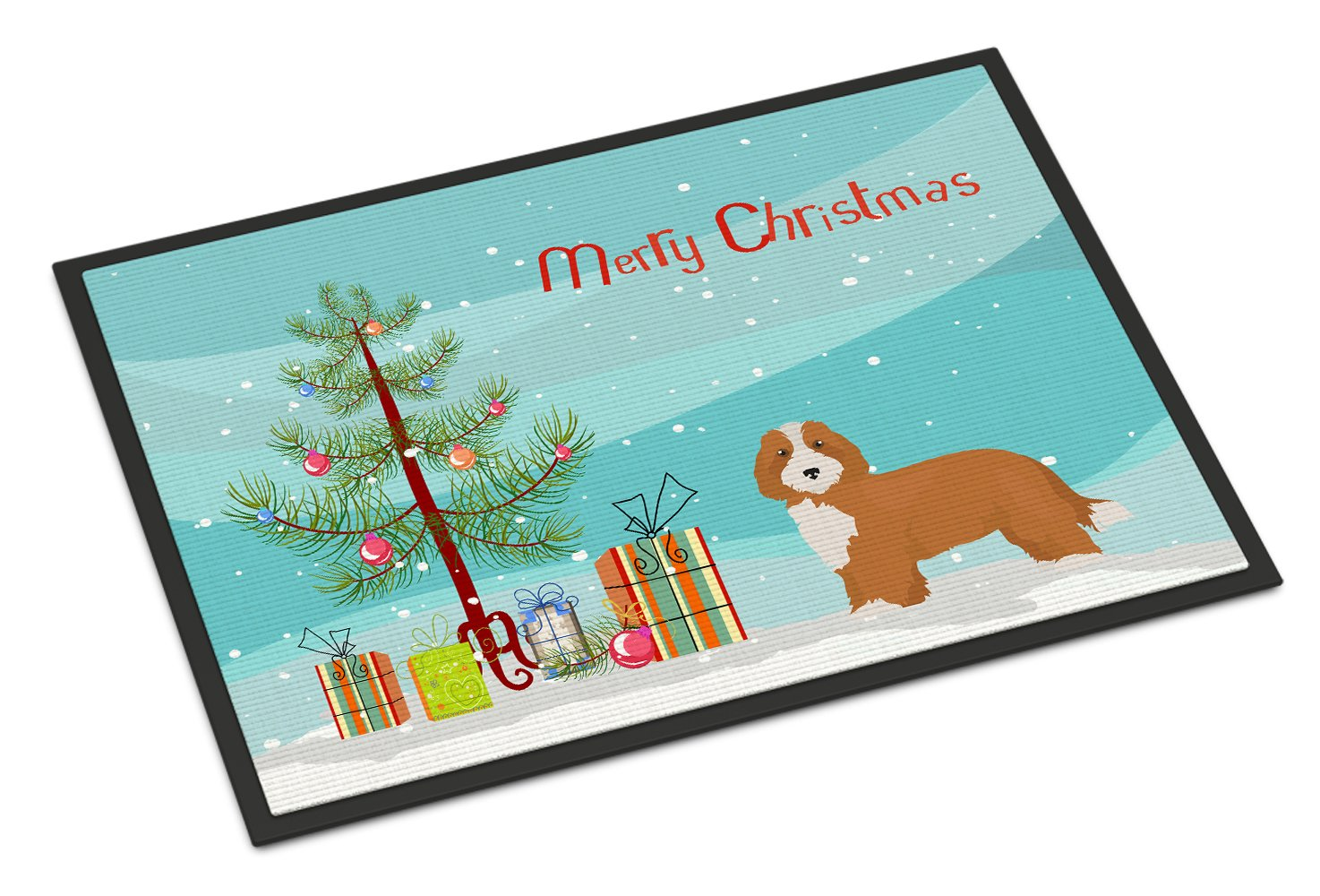 Doxiepoo #2 Christmas Tree Indoor or Outdoor Mat 24x36 CK3827JMAT by Caroline's Treasures
