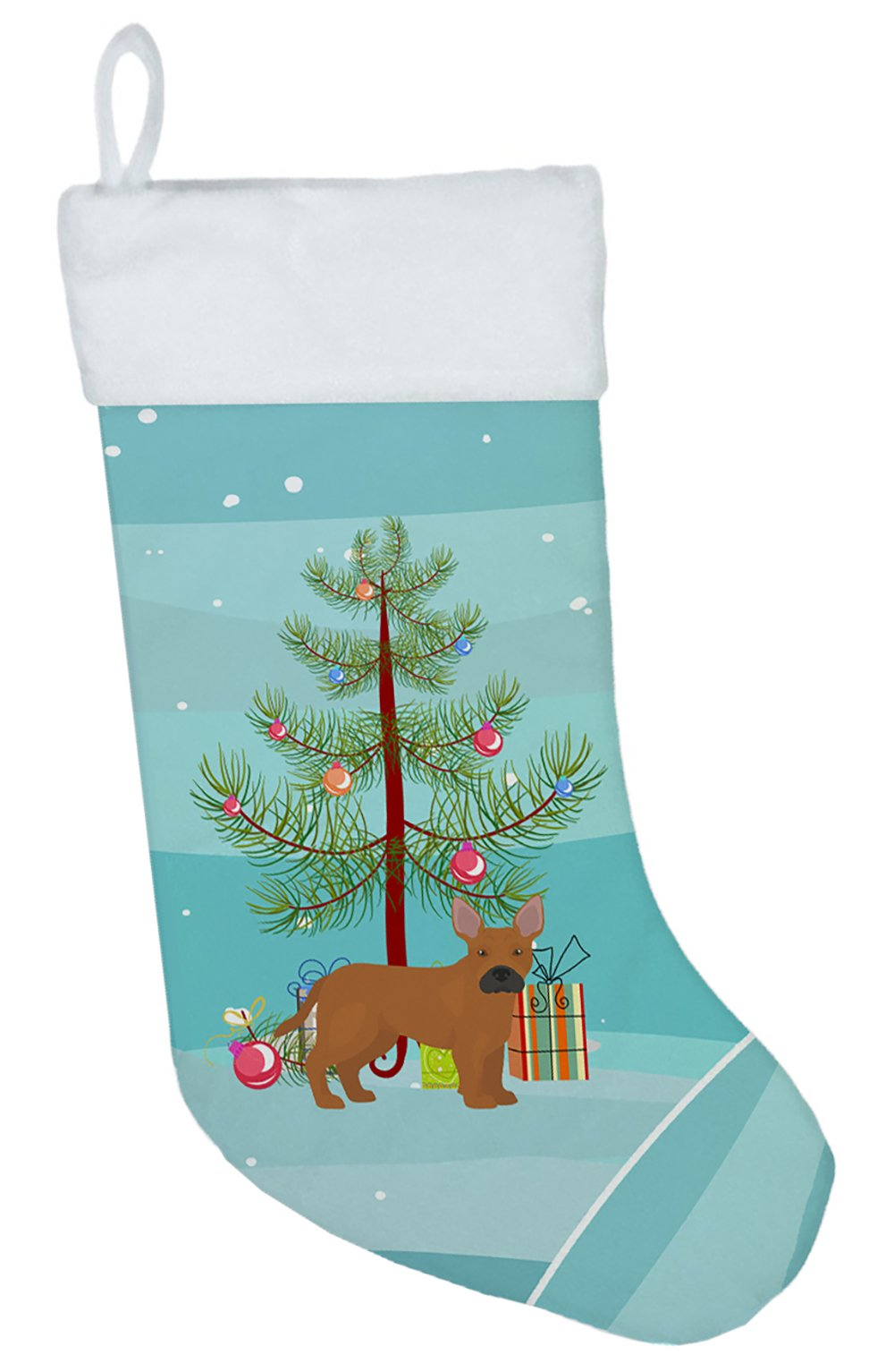 Tan French Bulldog Pit Bull Mix Christmas Tree Christmas Stocking CK3828CS by Caroline's Treasures