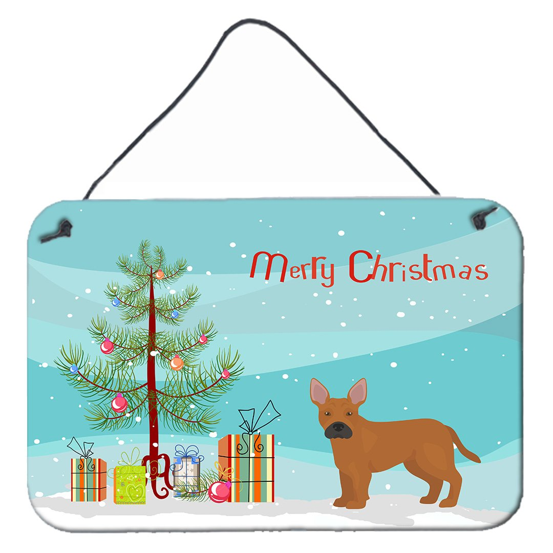 Buy this Tan French Bulldog Pit Bull Mix Christmas Tree Wall or Door Hanging Prints CK3828DS812