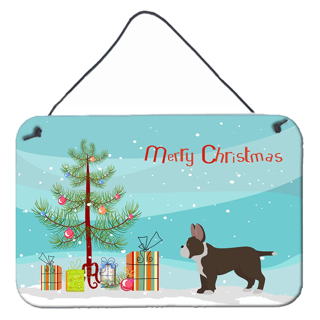 Buy this Black French Bulldog Pit Bull Mix Christmas Tree Wall or Door Hanging Prints CK3829DS812