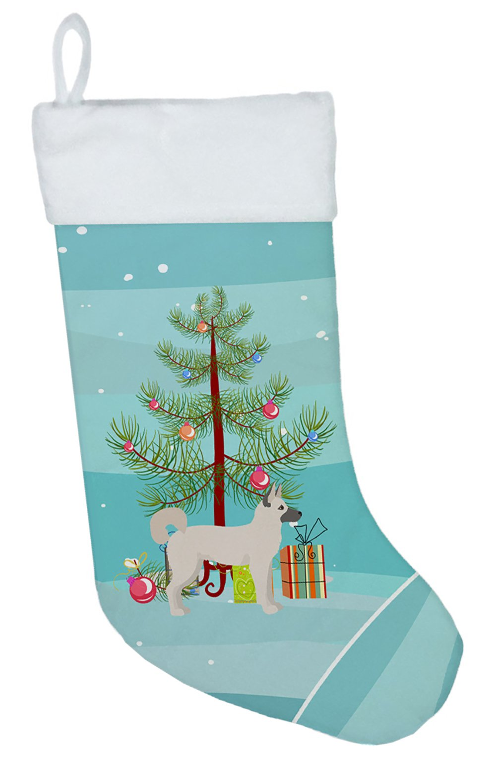 Gerberian Shepsky Christmas Tree Christmas Stocking CK3830CS by Caroline's Treasures