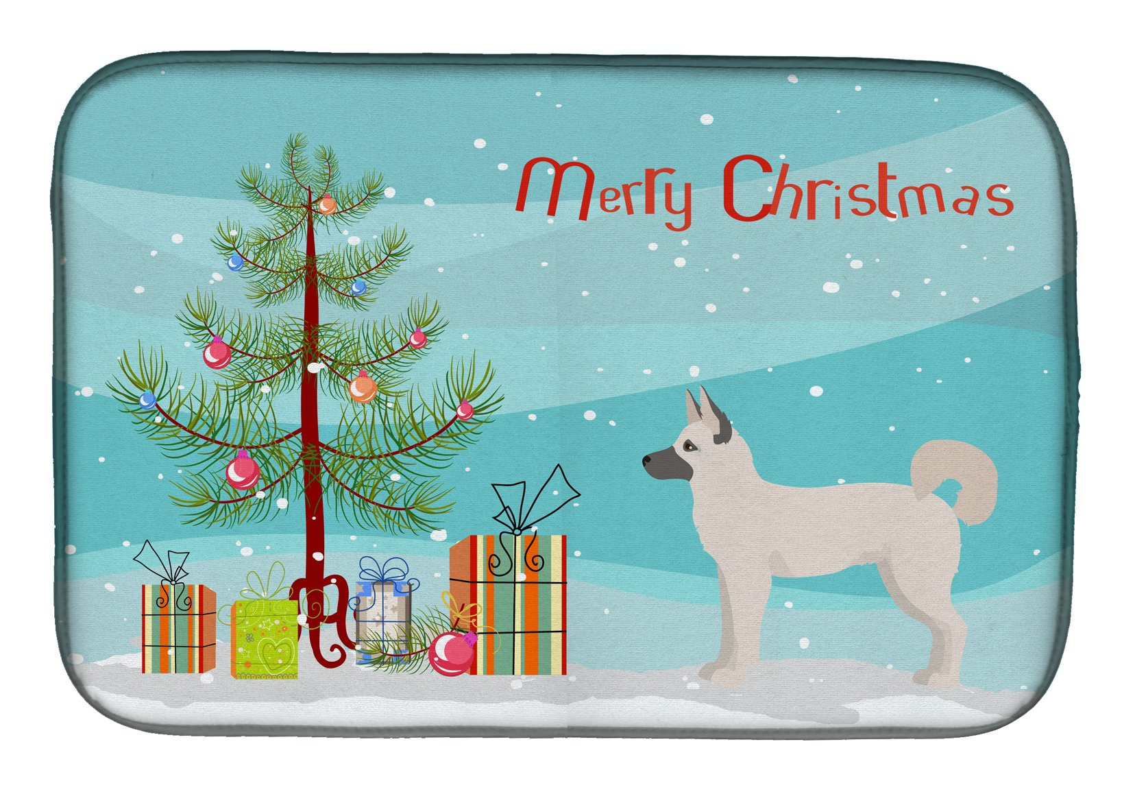 Gerberian Shepsky Christmas Tree Dish Drying Mat CK3830DDM by Caroline's Treasures
