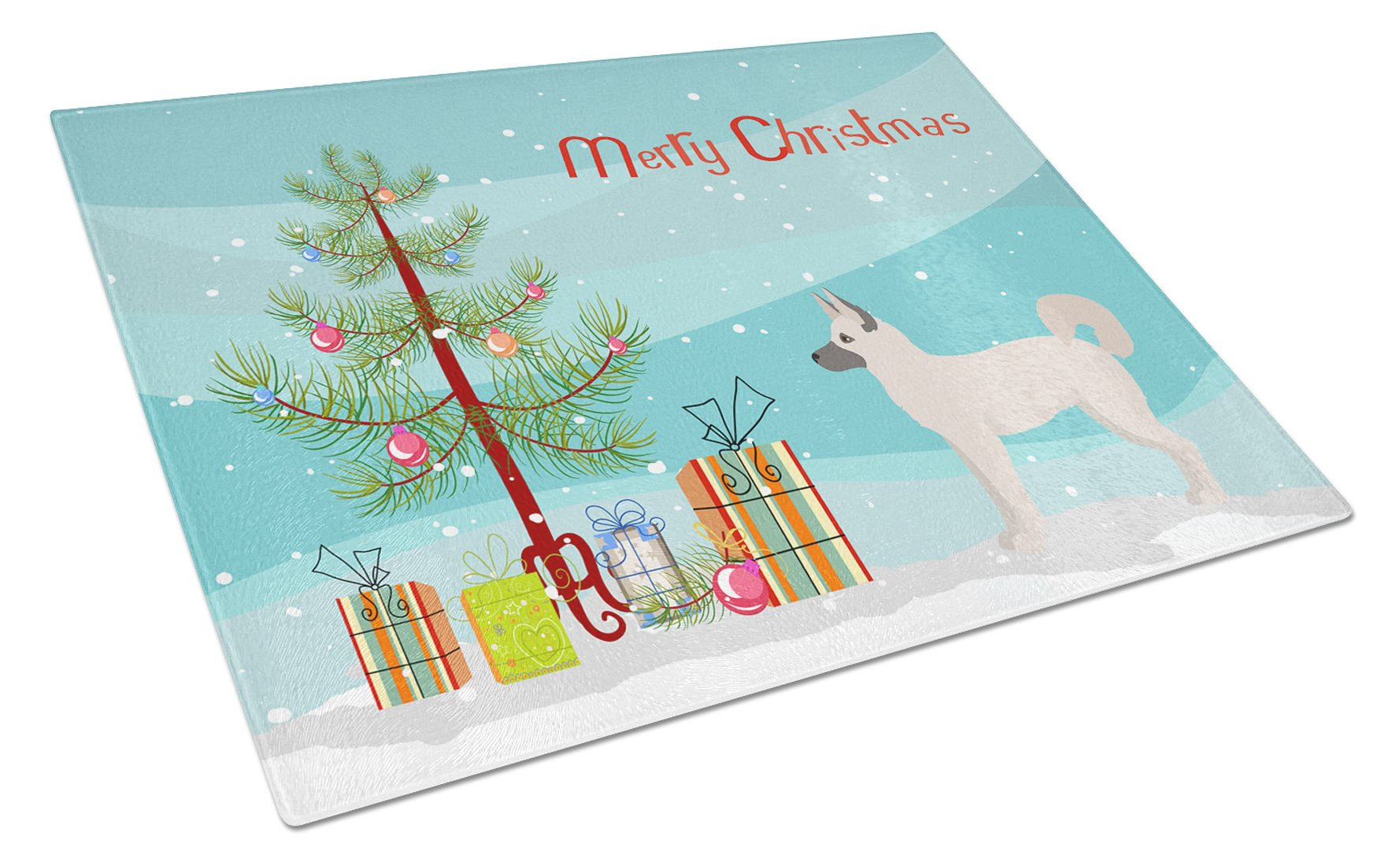Gerberian Shepsky Christmas Tree Glass Cutting Board Large CK3830LCB by Caroline's Treasures