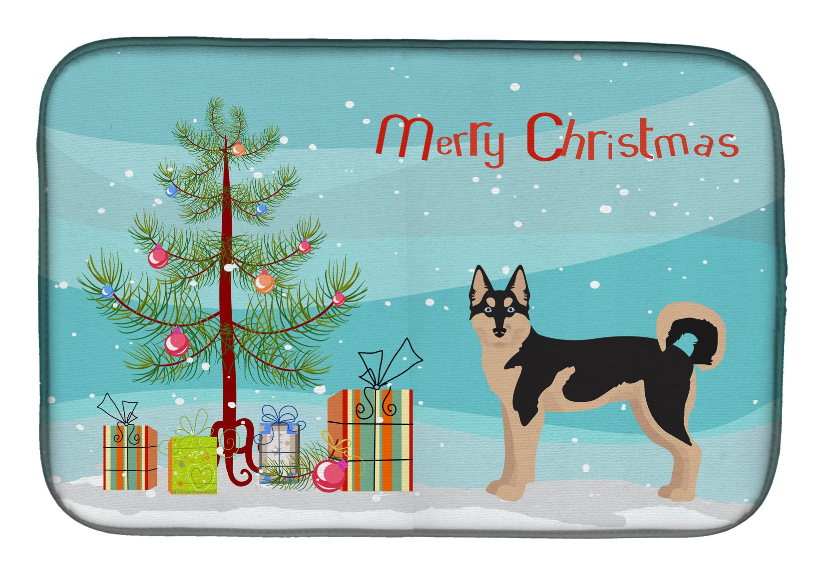 Gerberian Shepsky #2 Christmas Tree Dish Drying Mat CK3831DDM by Caroline's Treasures