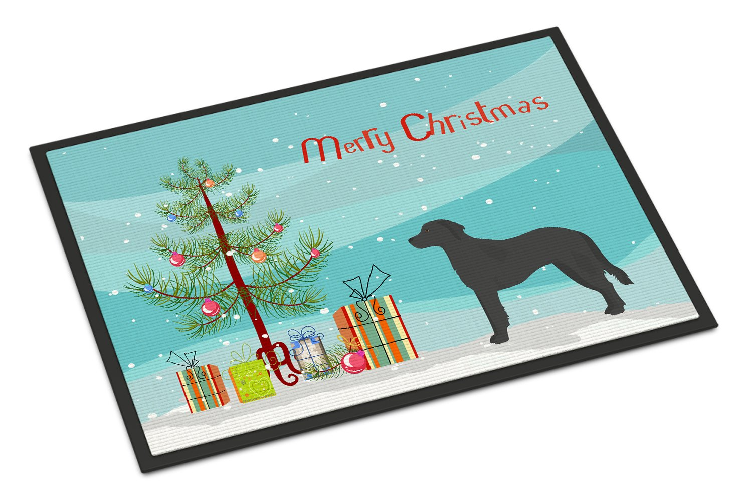 Black Goldador Christmas Tree Indoor or Outdoor Mat 24x36 CK3837JMAT by Caroline's Treasures