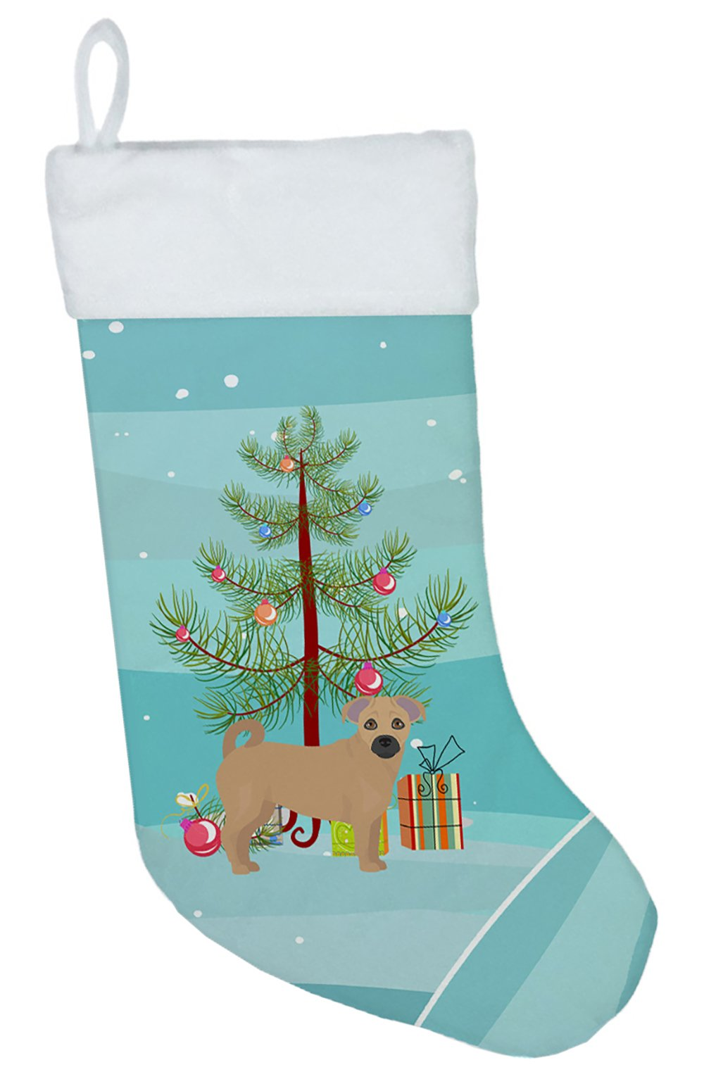 Tan Jug Christmas Tree Christmas Stocking CK3845CS by Caroline's Treasures