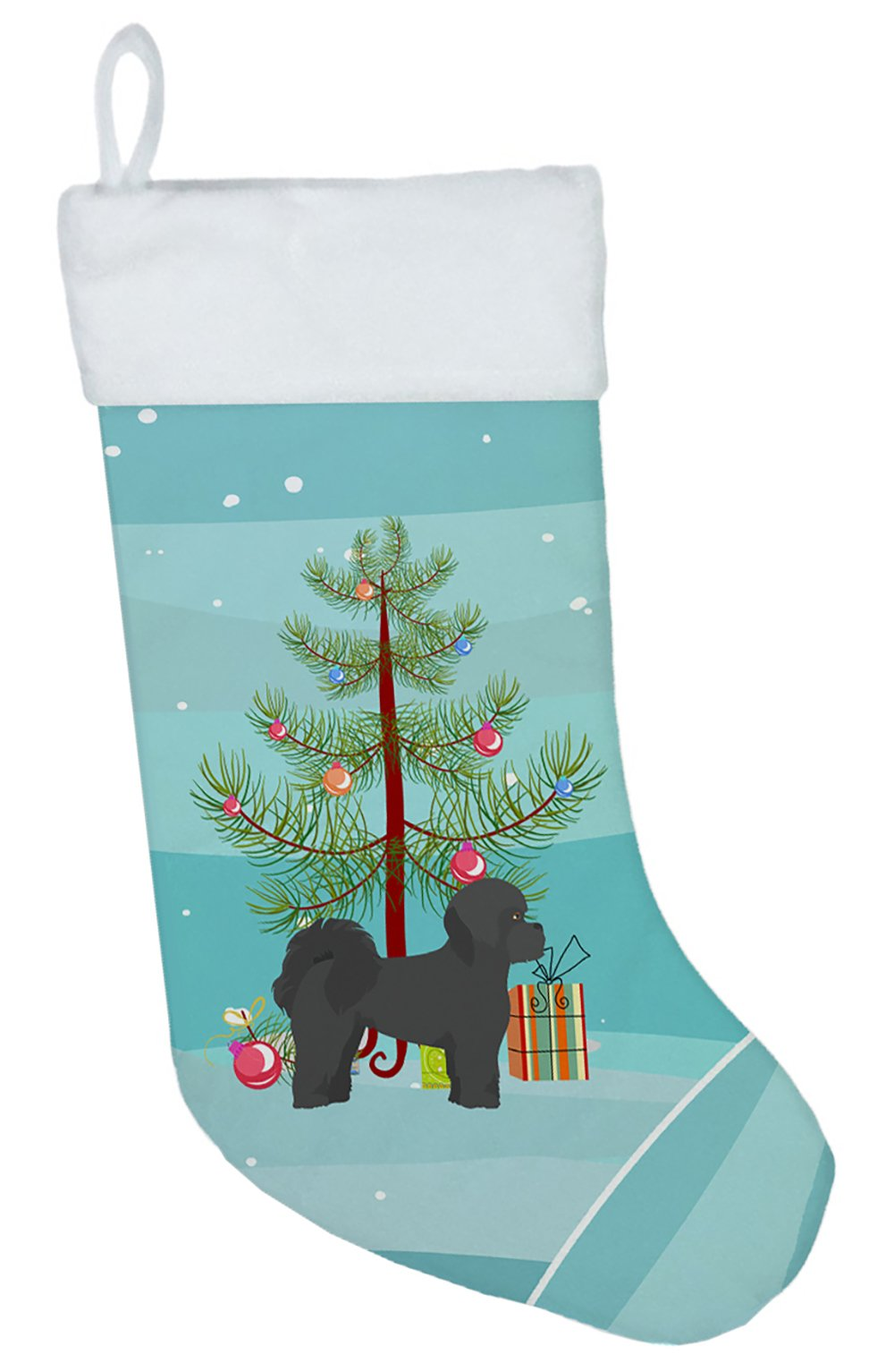 Black Mal-Shi Christmas Tree Christmas Stocking CK3852CS by Caroline's Treasures
