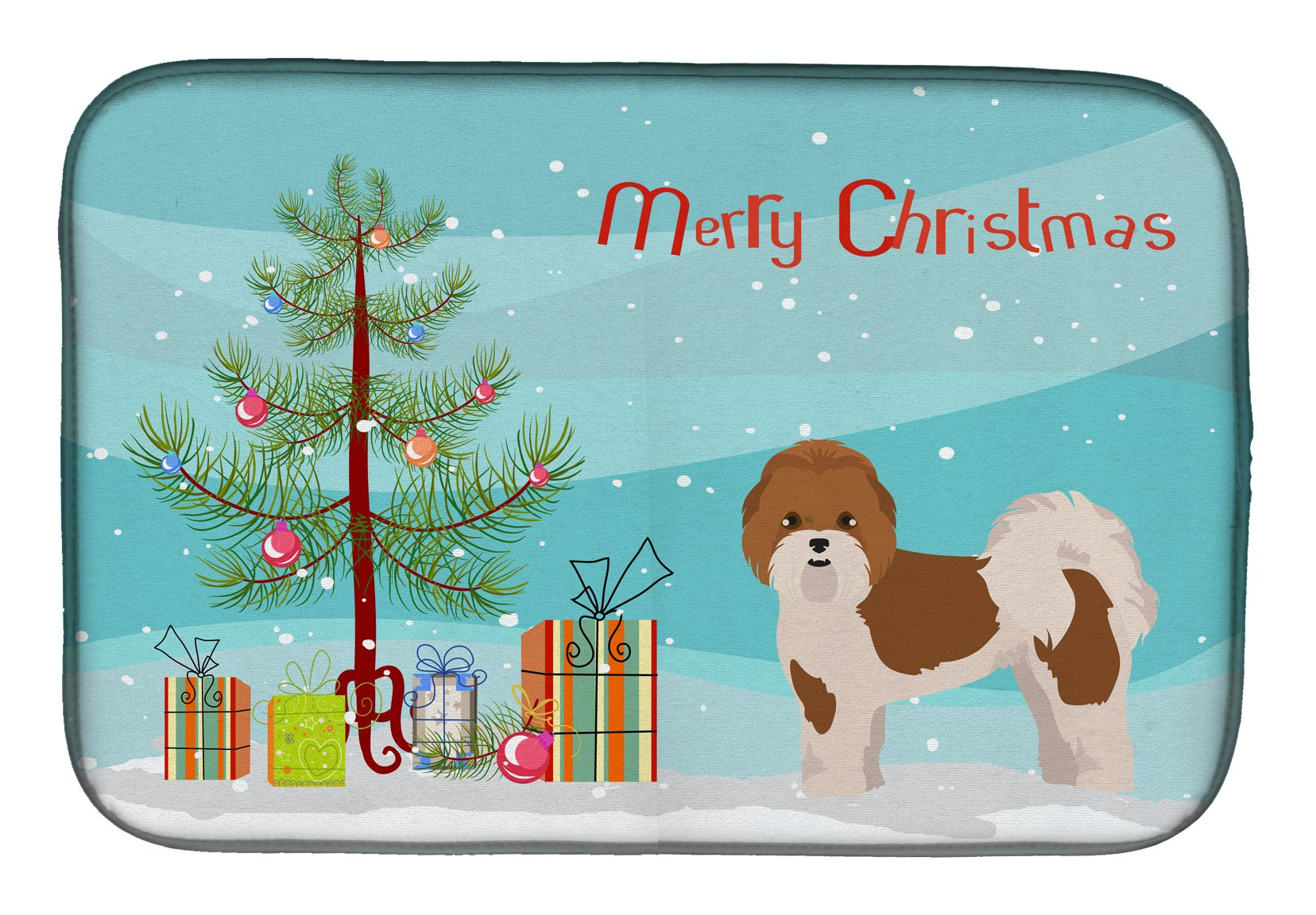 Mal-Shi Christmas Tree Dish Drying Mat CK3853DDM by Caroline's Treasures