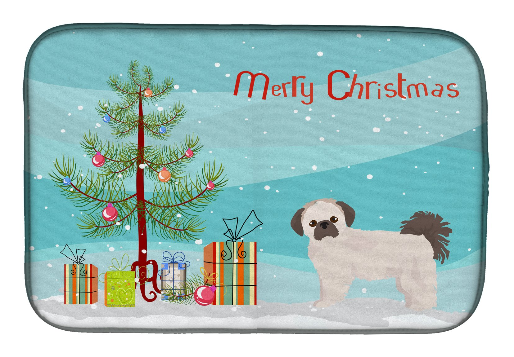 Buy this Pekeapoo Christmas Tree Dish Drying Mat CK3857DDM
