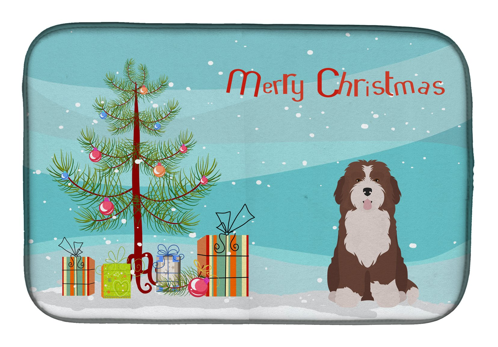 Buy this Bernedoodle #2 Christmas Tree Dish Drying Mat CK3886DDM